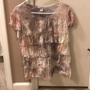 Lacy ruffled T-shirt